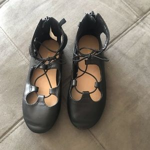 TODDLER LACE UP FLATS